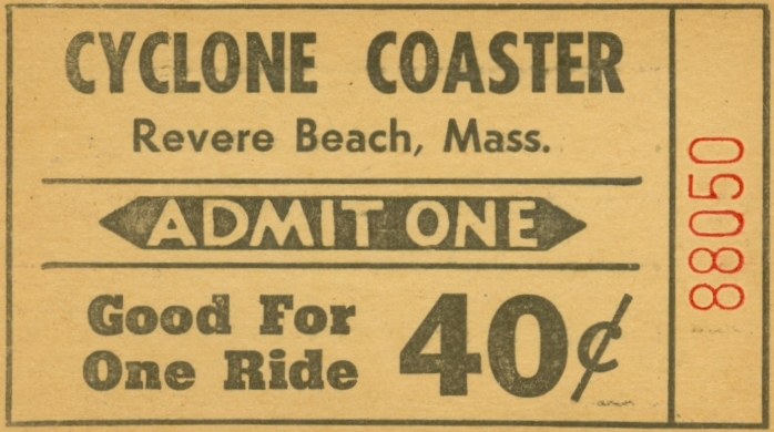 Cyclone Coaster Ticket