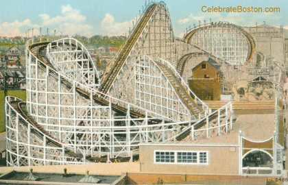 Revere Beach Cyclone Roller Coaster