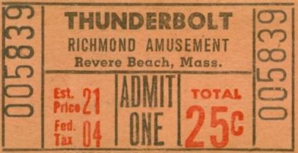 Thunderbolt Coaster Ticket