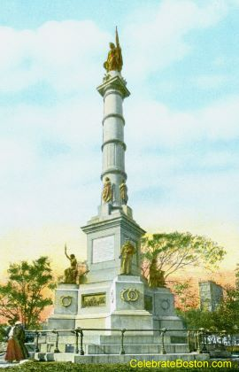Boston Common Soldiers &amp; Sailors Monument