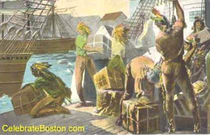 Boston Tea Party, Tossing The Tea