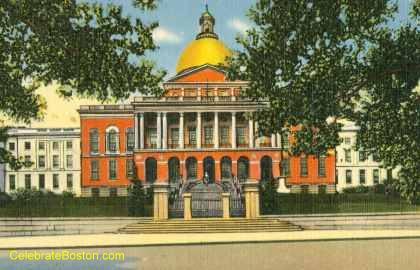 Massachusetts State House c.1910