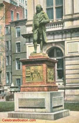 Benjamin Franklin Statue Postcard