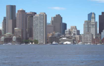 Boston Skyline With Custom House