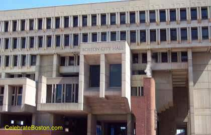 Boston City Hall Entrance