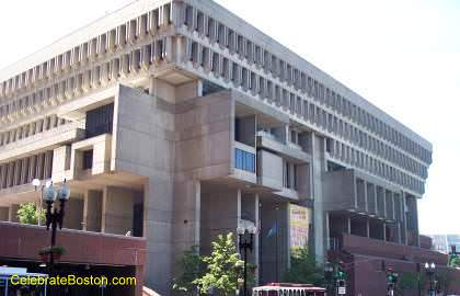 Boston City Hall From Congress Street