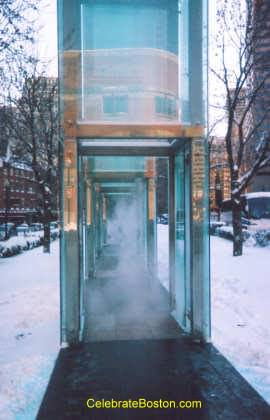 Simulated Smoke at the Holocaust Memorial in Boston