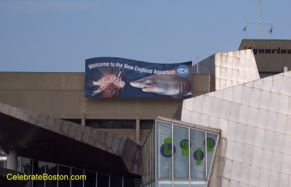 New England Aquarium Sign