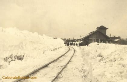 BRB&L Blizzard 1920, Battery Station 1st Track