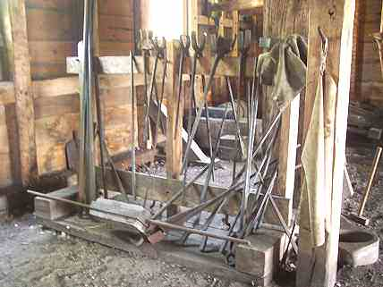 Tools at the Saugus Iron Works