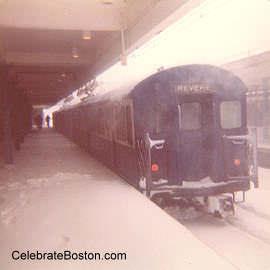 Last Westbound Train in Blizzard