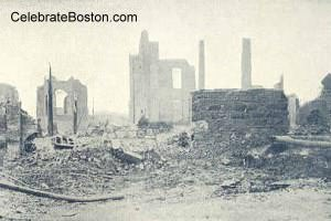 Great Chelsea Fire at Cherry Street, 1908
