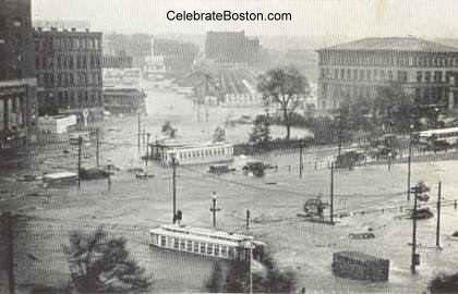 Flooding in Downtown Providence