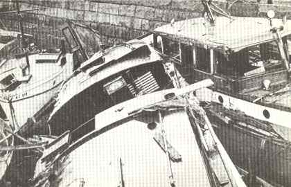 Boats Wrecked in South Boston