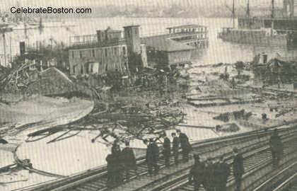 Boston Molasses Flood Destruction