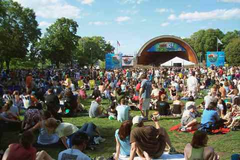 Hatch Shell Lawn At The EarthFest