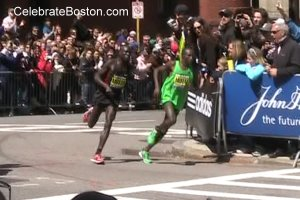 Boston Marathon Near Finish Line in 2011