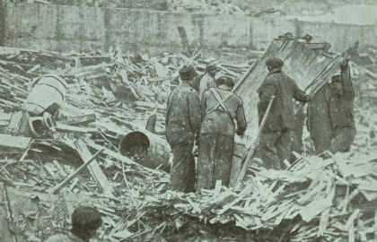Halifax Explosion Searching For Bodies