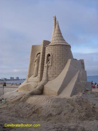 Rapunzel Sand Sculpture 2010