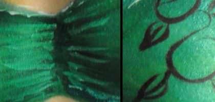 Body Painting, Bikini Top Detail