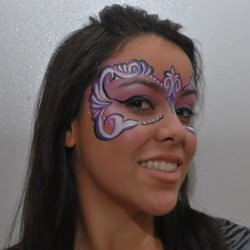Face Painting Mardi Gras Mask