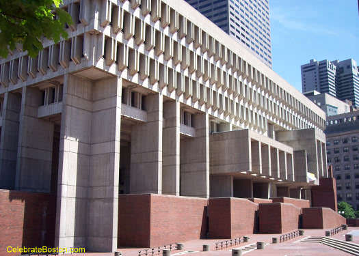 Boston City Hall from Government Center Plaza