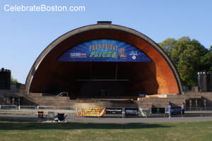 Free Friday Flicks Venue, Hatch Shell