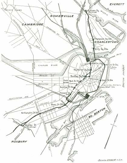 Boston Elevated Railway Map, 1901