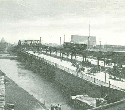 Charlestown Bridge, 1901