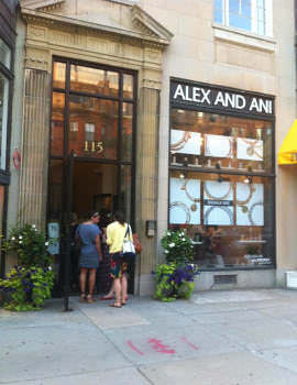 Alex and Ani, 115 Newbury Street Boston