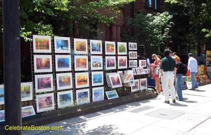 Street Vendor Selling Art Prints