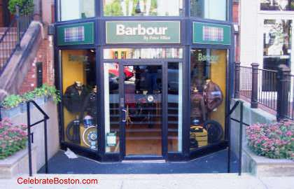 Barbour, 134 Newbury Street Boston
