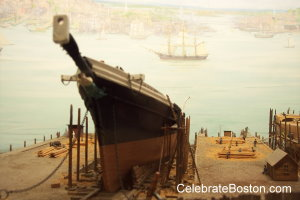 Model of Donald McKay's Shipyard