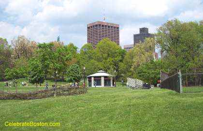 Boston Common Looking Toward Park Street