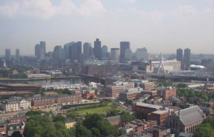 Boston Skyline From Bunker Hill Monument Observatory
