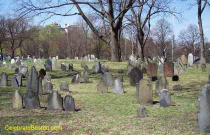 Central Burying Ground Looking At Charles Street