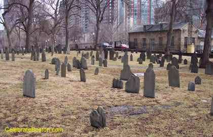 Central Burying Ground Looking At Tremont Street