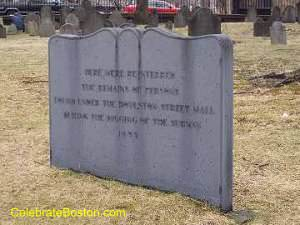 Central Burying Ground Mass Grave Marker