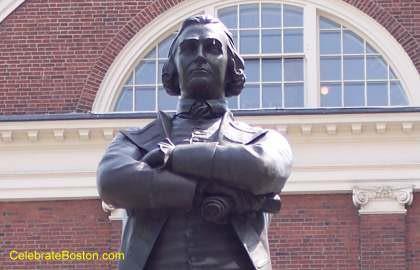 Sam Adams Statue Close Up
