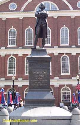 Samuel Adams Statue At Faneuil Hall
