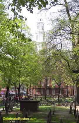 Park Street Church From Granary Burying Ground
