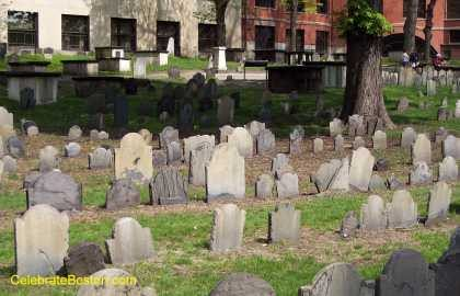Granary Burying Ground Looking West