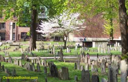 Granary Burying Ground In Spring Time