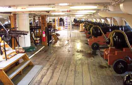 Old Ironsides Gun Deck
