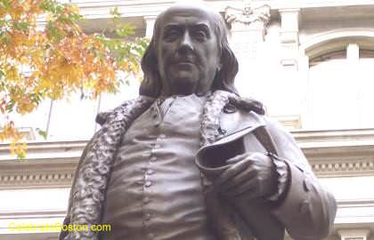 Ben Franklin Statue Close Up