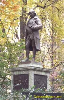 Benjamin Franklin Statue In Autumn