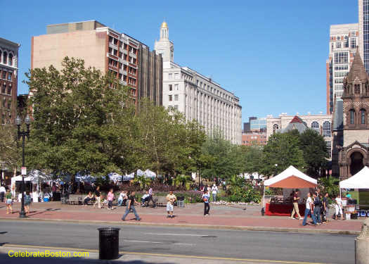 Copley Square Boston Looking East
