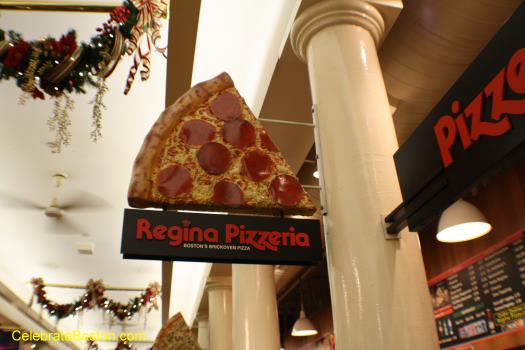 Faneuil Hall Pizzeria Regina Sign